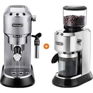De'Longhi EC685.M Dedica Zilver + koffiemolen