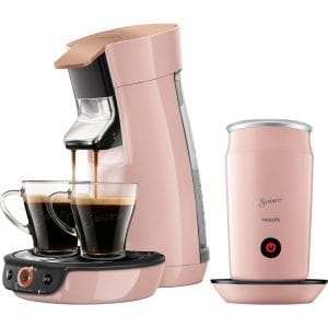 Philips Senseo Viva Café Duo Select HD6564/30 Roze + Melkopschuimer