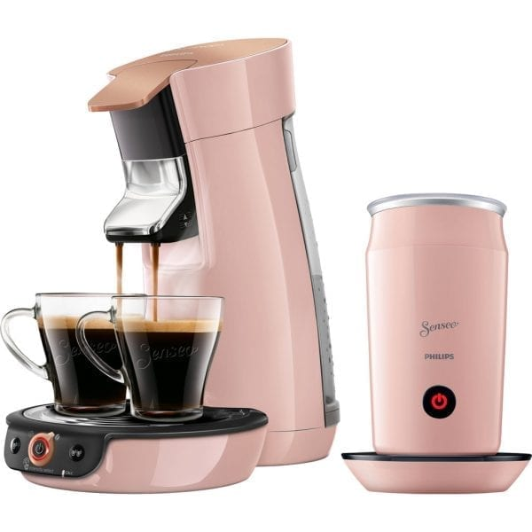 Philips Senseo Viva Café Duo Select HD6564/30 Roze + Melkopschuimer