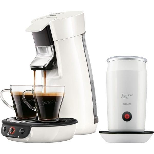 Philips Senseo Viva Café HD6563/00 Wit + Melkopschuimer