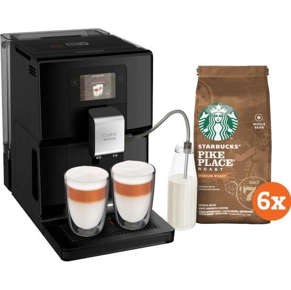 Krups Intuition Preference EA8738 + Starbucks Koffiebonen